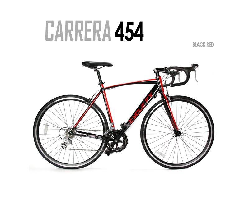 Carrera 454 BLACK RED Road Bike | ZycleFix